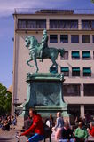 Historic statue of a famous ruler of Sweden. Statue of a famous ruler of Sweden in Gothenburg city stock image