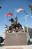 Historic statue in Stockyard City Stock Photos
