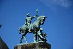 Historic statue on the VESTE COBURG castle in Coburg, Germany Royalty Free Stock Photography