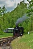 Historic Steam Powered Train. Near Jindrichuv Hradec, Czech Republic (2013 Stock Image