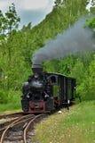Historic Steam Powered Train. Near Jindrichuv Hradec, Czech Republic Stock Image