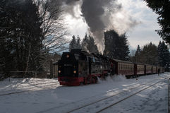 Historic Steam Train at the Harz Royalty Free Stock Images