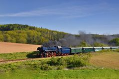 Historic steam train. Specially launched Czech old steam train trips and for traveling around the Czech Republic. Historic steam train. Specially launched Czech Stock Images