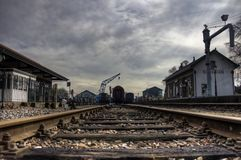 Beekbergen Steam Train Station. The historic steam train station at Beekbergen, The Netherlands in HDR Stock Photography