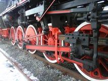 Historic steam train wheels Stock Image
