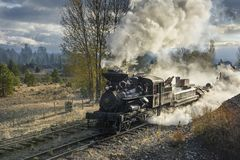 EDITORIAL, 18 October 2015, Historic Steam Trains and Heritage Railroad of the Sumpter Valley Railway or Railroad, Sumpter Oregon. Historic Steam Trains and Royalty Free Stock Photo