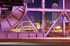 Historic steel bridge of night Stock Photography