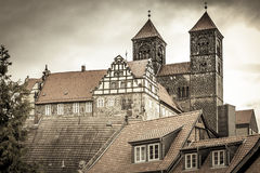 The historic Stiftskirche church in Quedlinburg, Germany Stock Images