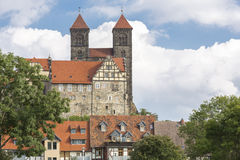 The historic Stiftskirche church in Quedlinburg, Germany Stock Photography