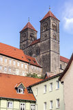 The historic Stiftskirche church in Quedlinburg, Germany Royalty Free Stock Image