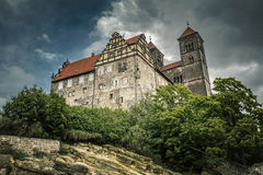 The historic Stiftskirche church in Quedlinburg, Germany Royalty Free Stock Photos