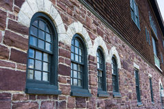 Historic stone arched windows Stock Images