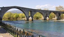 Historic stone bridge of Arta at west Greece. Historic stone bridge of Arta at Greece Royalty Free Stock Photos