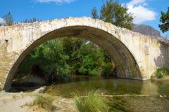 Historic stone bridge on Crete island Royalty Free Stock Photography