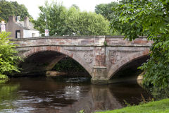 Historic stone bridge over the River Eden in Appleby, UK Royalty Free Stock Photos