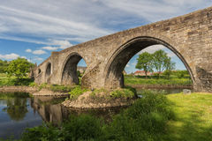 The historic stone bridge in Stirling over the River Forth Stock Photography