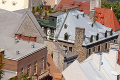 Historic stone building roofs Quebec City Canada Stock Photo
