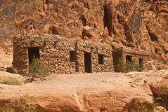 Historic Stone Cabins. In the Valley of Fire State Park near Las Vegas, Nevada stock photos