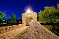 Historic stone gate entrance of Nin Stock Image