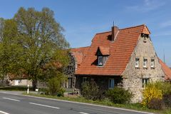 Historic stone house in Hesse. A Historic stone house in Hesse stock photos