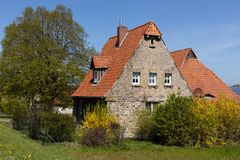 Historic stone house in Hesse. A Historic stone house in Hesse royalty free stock images