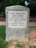 Historic Stone Marker Showing the Exact Location of the State House in Columbia, SC Stock Images