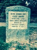 Historic Stone Marker Showing the Exact Location of the State House in Columbia, SC Royalty Free Stock Photography