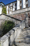 Historic stone stairs to the middle school Stock Photo