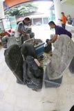 Historic stone statues Stock Image