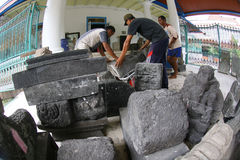 Historic stone statues Stock Photos