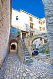 Historic stone streets of UNESCOT town of Trogir Stock Image
