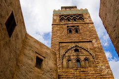 Historic stone tower. Seen from base looking up Royalty Free Stock Photography