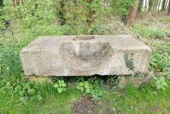 Upright millstone base Stock Images