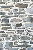 Historic Stone Wall Detail with raised mortar joints. Royalty Free Stock Images