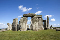 Historic Stonhenge. Stonehenge in England with a cloudy blue sky royalty free stock photo