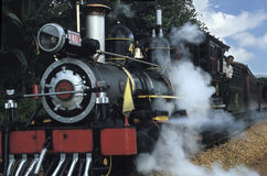 Historic stream train in Minas Gerais, Brazil Stock Photo