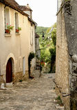 Historic Street. Ancient and Historic medieval street in France Royalty Free Stock Image