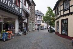 Historic street in Bad Muenstereifel Stock Image
