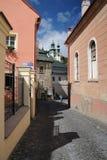 Historic street in Banska Stiavnica Stock Photo