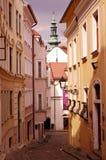 Historic street in Bratislava town Stock Image