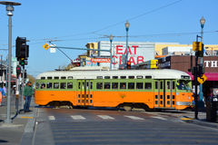 Historic street car Stock Photo