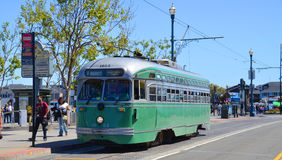 Historic street car Stock Images