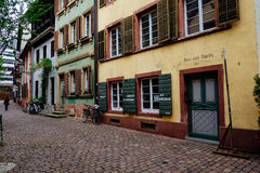 Historic Street in Freiburg, Germany Royalty Free Stock Image