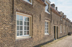 Historic street with houses in a row Royalty Free Stock Photo