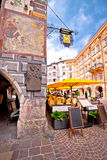 Historic street of Innsbruck vertical view Royalty Free Stock Images