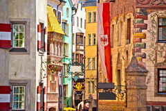 Historic street of Innsbruck view Royalty Free Stock Images