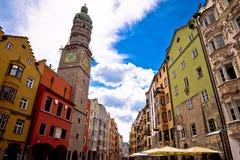 Historic street of Innsbruck view Stock Photo