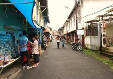 The historic street of Jew's Colony in Kochi Royalty Free Stock Image