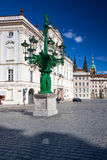 Historic Street lamp and Archbishop's Palace at the Castle Squar Stock Images