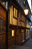 Historic Street. Old historic street in the city of York, England, at dusk royalty free stock images
